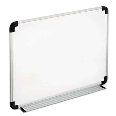 Universal® Deluxe Melamine Dry Erase Board with Aluminum Frame