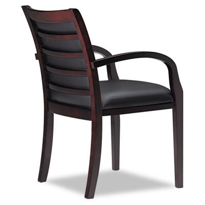 Mayline® Mercado™ Series Leather Seating Ladder-Back Guest Chair