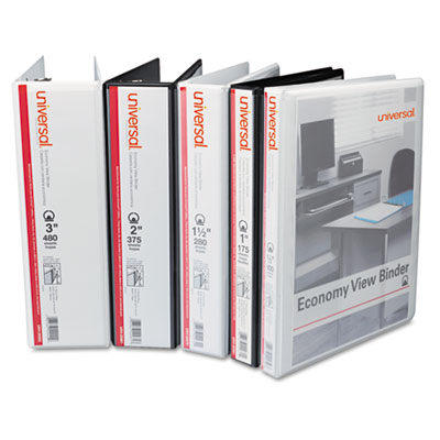 Universal® Deluxe Round Ring View Binders