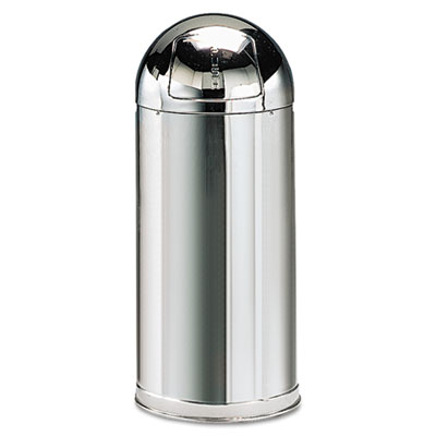 Rubbermaid® Commercial Fire-Resistant Steel Dome Waste Receptacle