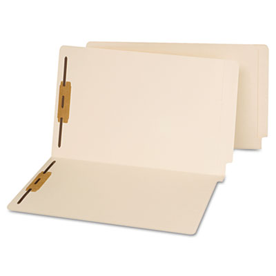 Universal® Reinforced End Tab File Folders with Fasteners