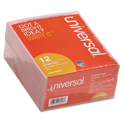 """Universal® """"Important Message"""" Pink Pads"""
