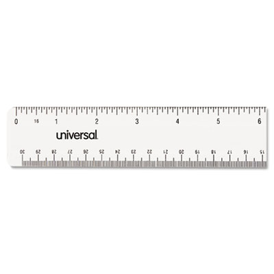 Universal® Clear Plastic Ruler