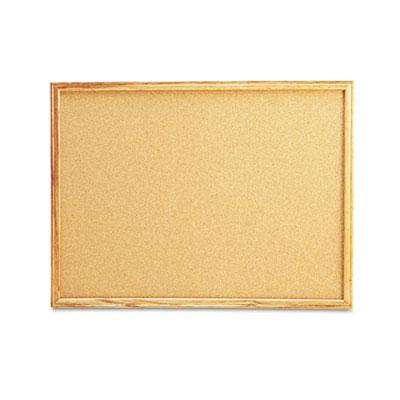 Universal® Cork Board with Oak Style Frame