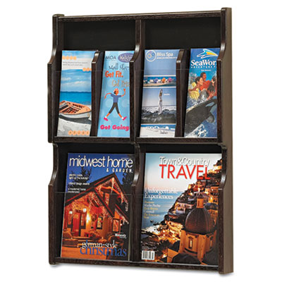 Safco® Expose™ Adjustable Magazine/Pamphlet Literature Display