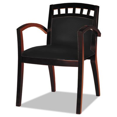 Mayline® Mercado™ Series Leather Seating Arch-Back Guest Chair