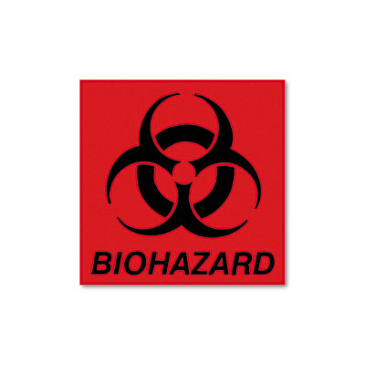 Rubbermaid® Commercial Biohazard Decal