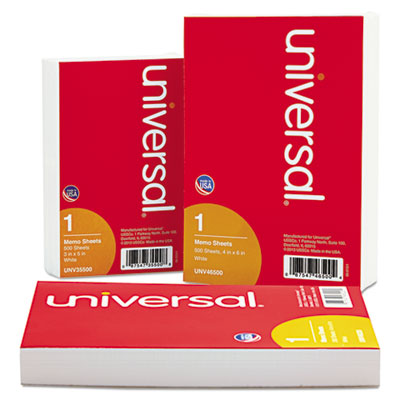 Universal® Loose White Memo Sheets