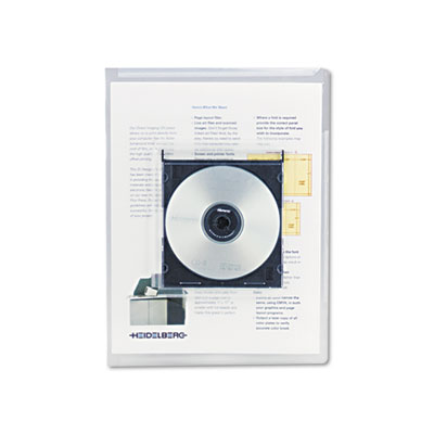 Universal® Transparent Deluxe Locking Project Files with CD-ROM Holder