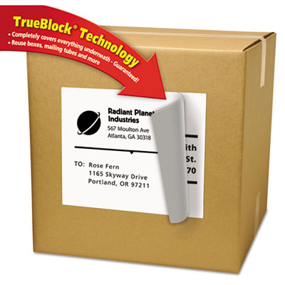 Avery® Shipping Labels with Ultrahold™ Adhesive and TrueBlock® Technology
