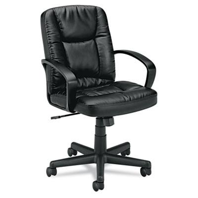 basyx® VL171 Executive Mid-Back Leather Chair