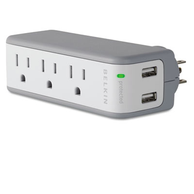Belkin® Mini Surge Protector with USB Charger
