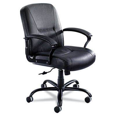 Safco® Serenity™ Big & Tall Mid Back Leather Chair