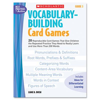 Scholastic Vocabulary Building Card Games
