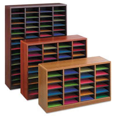 Safco® E-Z Stor® Wood Literature Organizers