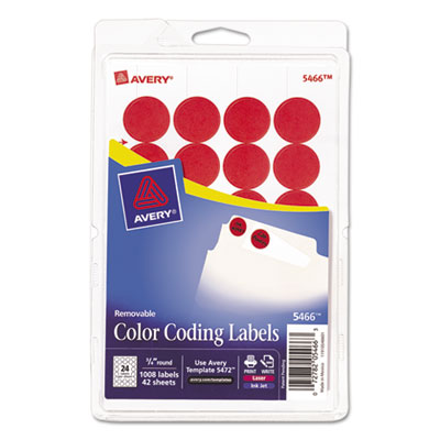 Avery® Removable Color-Coding Labels