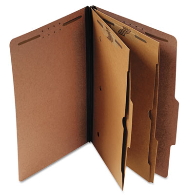 Universal® Six-Section Classification Folder with Pockets