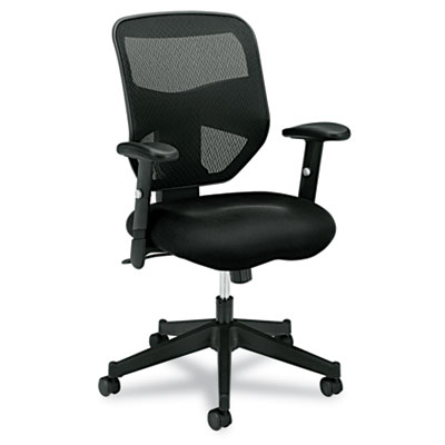 basyx® VL531 Mesh High-Back Task Chair with Adjustable Arms