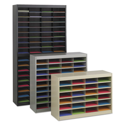 Safco® E-Z Stor® Literature Organizers with Steel Frames and Shelves