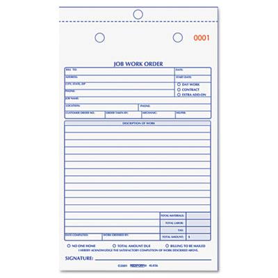 Rediform® Job Work Order Book at Nationwide Industrial Supply, LLC