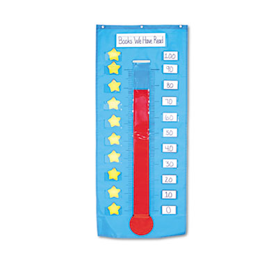 Carson-Dellosa Publishing Thermometer/Goal Gauge Pocket Chart