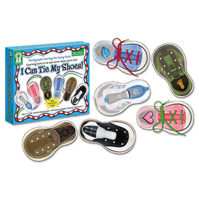 "Carson-Dellosa Publishing ""I Can Tie My Shoes!"" Lacing Cards"