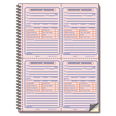 Universal® Wirebound Message Books