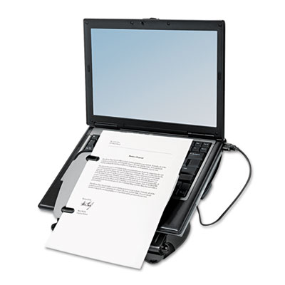 Fellowes® Professional Series Laptop Riser with USB Hub