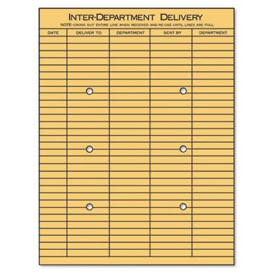 Universal® Light Brown Kraft String & Button Interoffice Envelope