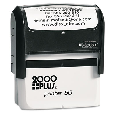 2000 PLUS® Self-Inking Custom Message Stamp with Microban®