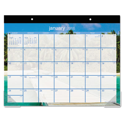 AT-A-GLANCE® Tropical Escape Desk Pad