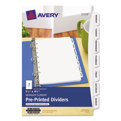"Avery® Preprinted Tab 5 ½"" x 8 ½"" Dividers"