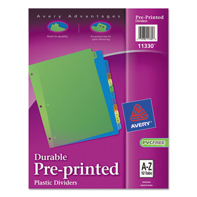 Avery® Preprinted Tab Plastic Dividers