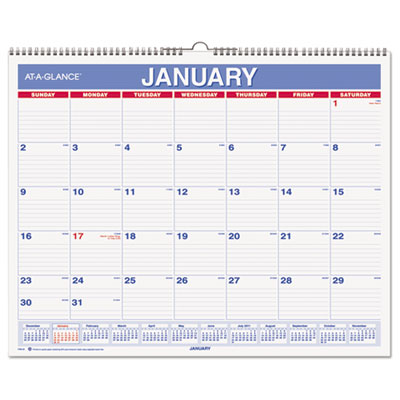 AT-A-GLANCE® Monthly Wall Calendar