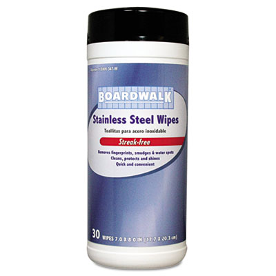 Boardwalk® Stainless Steel Wipes
