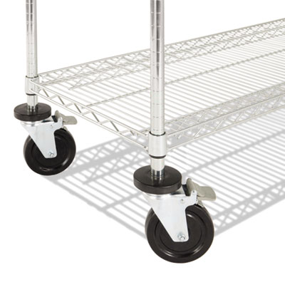Alera® Commercial Wire Shelving Kit with Casters