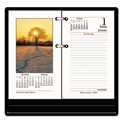 AT-A-GLANCE® Photographic Desk Calendar Refill