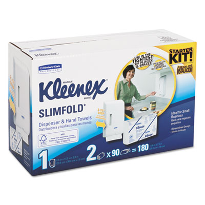 Kleenex® Slimfold* Hand Towel Dispenser Starter Kit