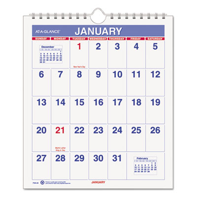 AT-A-GLANCE® Mini Monthly Wall Calendar