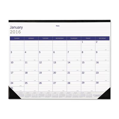Blueline® DuraGlobe™ Monthly Desk Pad Calendar
