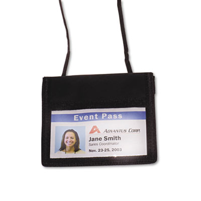 Advantus® ID Badge Holders With Convention Neck Pouch