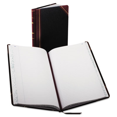 Boorum & Pease® Record and Account Book with Black and Red Cover
