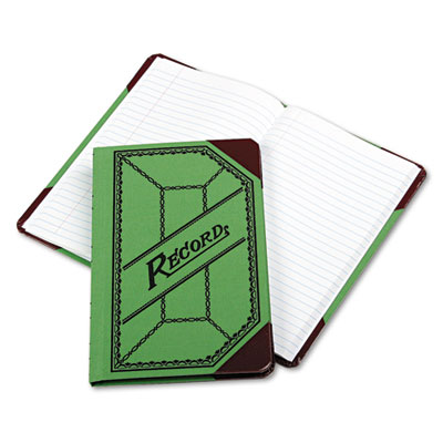 Boorum & Pease® Miniature Account Book with Green and Red Cover