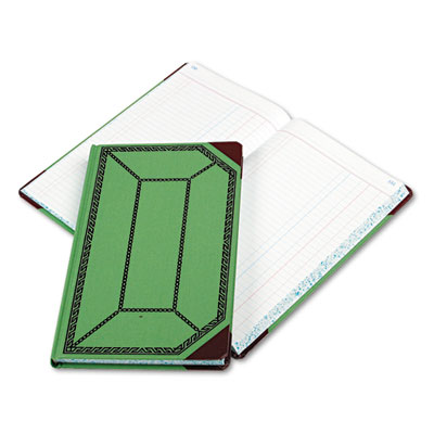 Boorum & Pease® Record and Account Book with Green and Red Cover