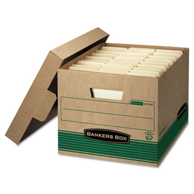 Bankers Box® STOR/FILE™ Medium-Duty 100% Recycled Storage Boxes