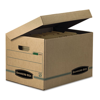 Bankers Box® SYSTEMATIC® Basic-Duty Attached Lid Storage Boxes