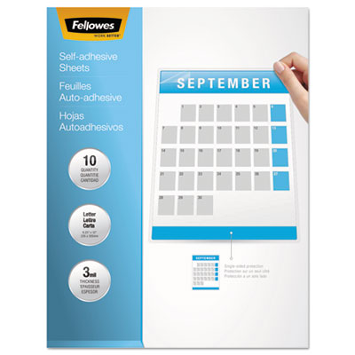 Fellowes® Self-Adhesive Laminating Sheets