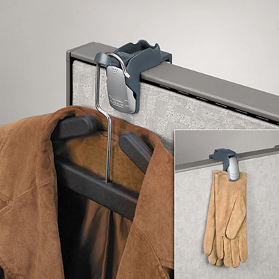 Fellowes® Professional Series Partition Additions™ Coat Hook and Clip