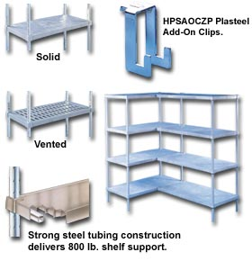 HEAVY-DUTY PLASTEEL® SHELVING