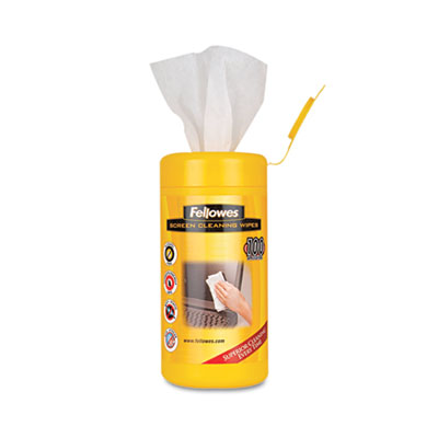 Fellowes® Alcohol-Free Screen Cleaning Wipes